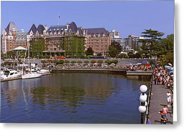 British Columbia Greeting Cards - Buildings At The Waterfront, Empress Greeting Card by Panoramic Images
