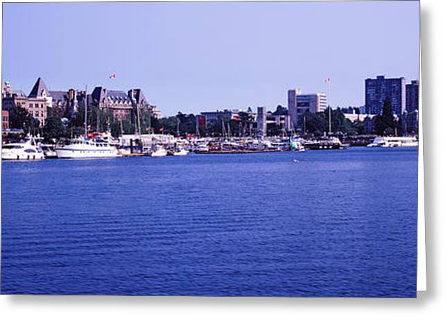 British Columbia Greeting Cards - Buildings At The Waterfront, Inner Greeting Card by Panoramic Images