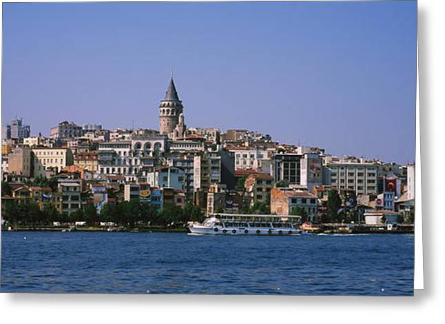 Galata Greeting Cards - Buildings At The Waterfront, Istanbul Greeting Card by Panoramic Images