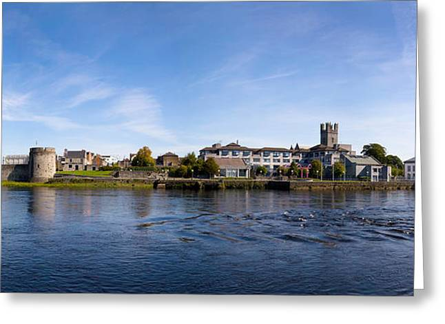 Shannon Greeting Cards - Buildings At The Waterfront, King Johns Greeting Card by Panoramic Images