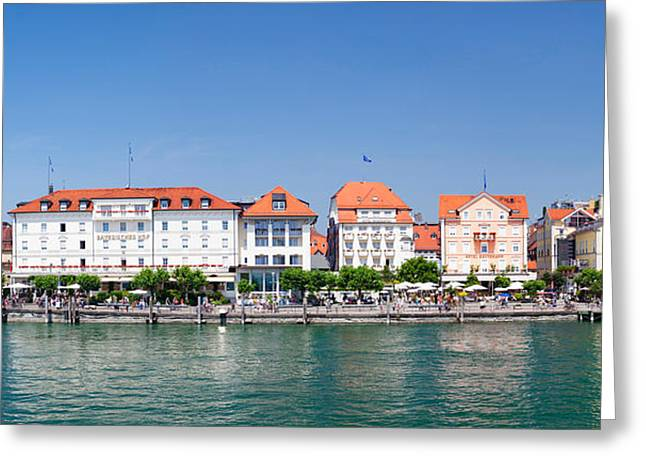 Buildings At The Waterfront, Mangturm Greeting Card by Panoramic Images