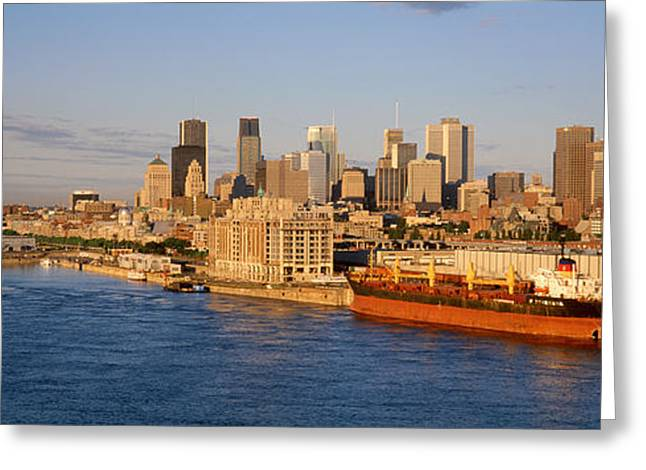Buildings At The Waterfront, Montreal Greeting Card by Panoramic Images