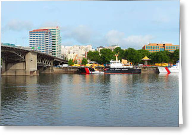 Rose Tower Greeting Cards - Buildings At The Waterfront, Morrison Greeting Card by Panoramic Images