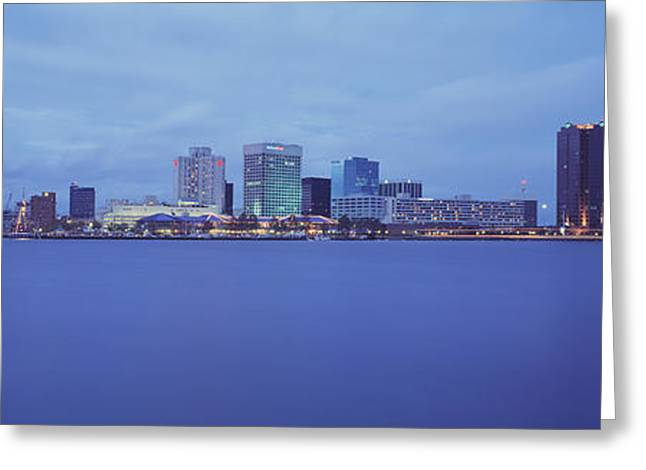 Water Vessels Greeting Cards - Buildings At The Waterfront, Norfolk Greeting Card by Panoramic Images