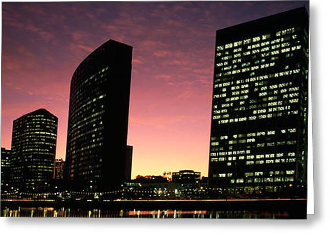 Buildings At The Waterfront, Oakland Greeting Card by Panoramic Images