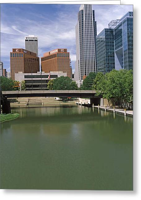 Omaha Greeting Cards - Buildings At The Waterfront, Omaha Greeting Card by Panoramic Images