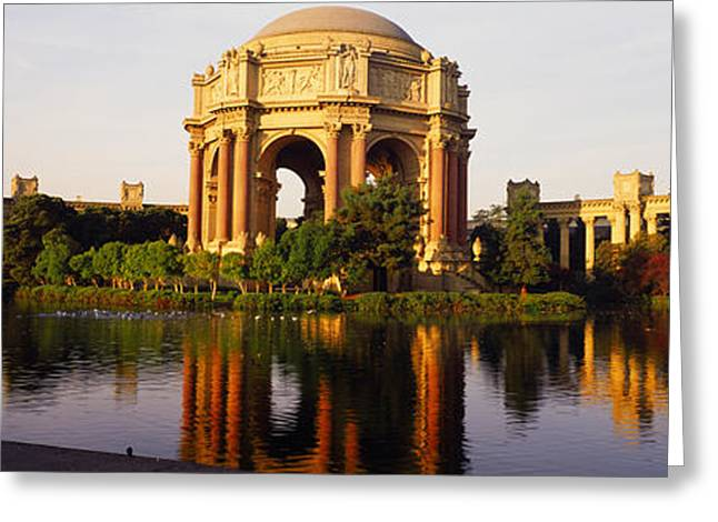 California Art Greeting Cards - Buildings At The Waterfront, Palace Of Greeting Card by Panoramic Images