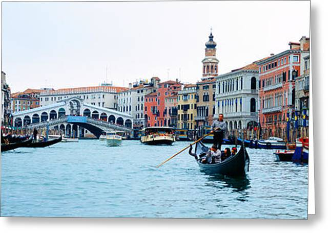 Rialto Bridge Greeting Cards - Buildings At The Waterfront, Rialto Greeting Card by Panoramic Images