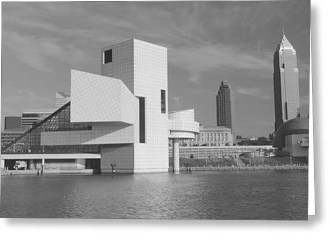 Arts Culture And Entertainment Greeting Cards - Buildings At The Waterfront, Rock And Greeting Card by Panoramic Images