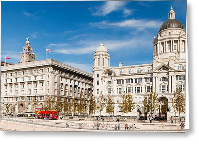 Liver Greeting Cards - Buildings At The Waterfront, Royal Greeting Card by Panoramic Images