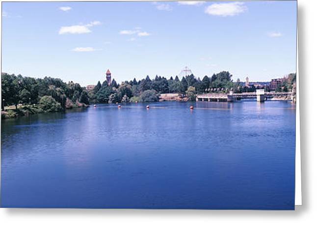 Buildings At The Waterfront, Spokane Greeting Card by Panoramic Images