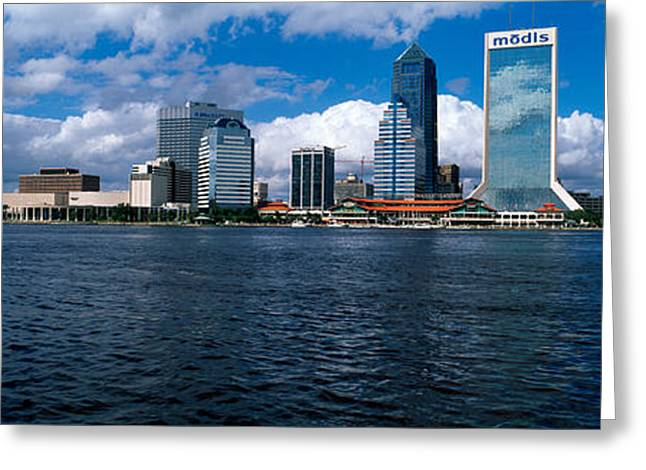 Jacksonville Greeting Cards - Buildings At The Waterfront, St. Johns Greeting Card by Panoramic Images