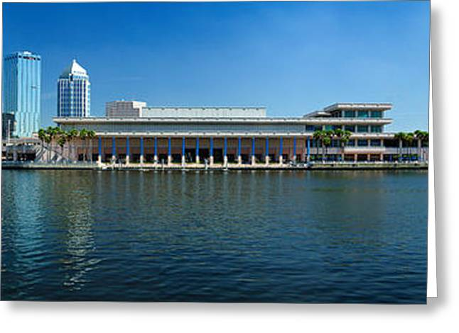 Hillsborough River Greeting Cards - Buildings At The Waterfront, Tampa Greeting Card by Panoramic Images