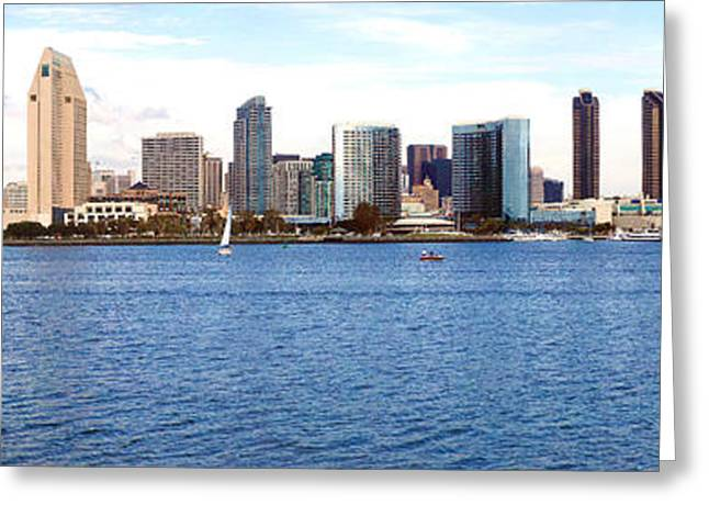 Coronado Island Greeting Cards - Buildings At The Waterfront, View Greeting Card by Panoramic Images