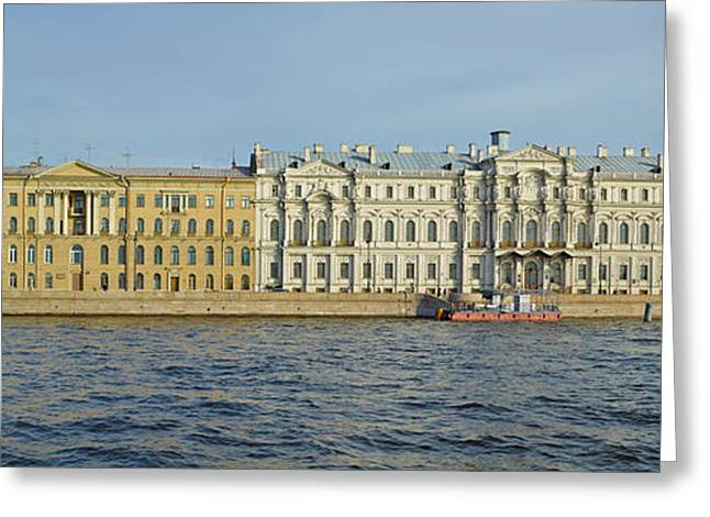 Buildings At The Waterfront, Winter Greeting Card by Panoramic Images