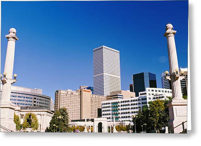 Civic Center Greeting Cards - Buildings From Civic Center Park Greeting Card by Panoramic Images