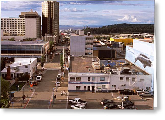 Alaska Scene Greeting Cards - Buildings In A City, Anchorage, Alaska Greeting Card by Panoramic Images