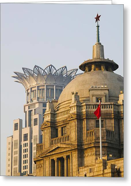 Bund Greeting Cards - Buildings In A City At Dawn, The Bund Greeting Card by Panoramic Images