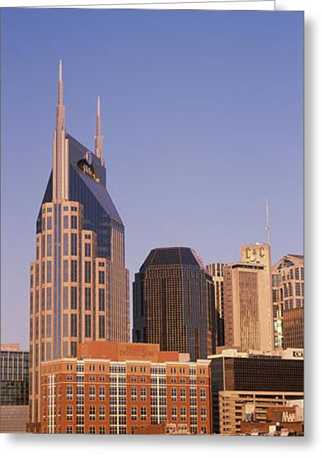 Nashville Panorama Greeting Cards - Buildings In A City, Bellsouth Greeting Card by Panoramic Images