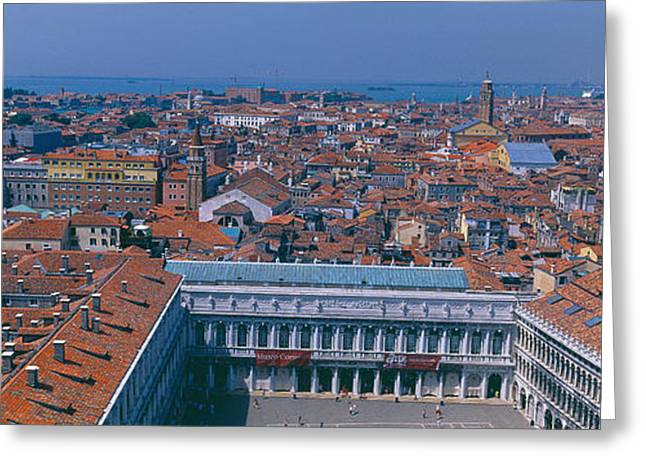 Florence Greeting Cards - Buildings In A City, Florence, Tuscany Greeting Card by Panoramic Images