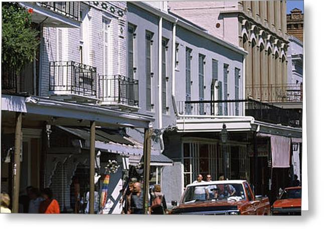 Old Street Greeting Cards - Buildings In A City, French Quarter Greeting Card by Panoramic Images