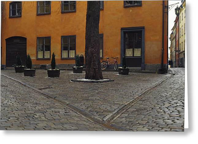 Entrance Door Greeting Cards - Buildings In A City, Gamla Stan Greeting Card by Panoramic Images