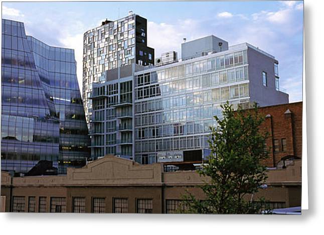 Park Scene Greeting Cards - Buildings In A City, High Line Park Greeting Card by Panoramic Images