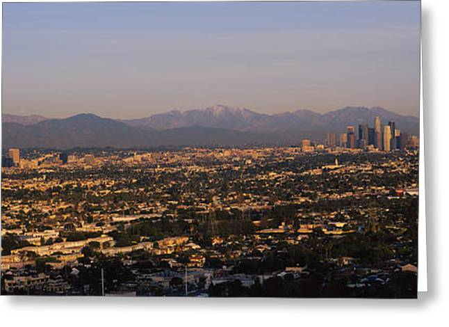 Locations Greeting Cards - Buildings In A City, Hollywood, San Greeting Card by Panoramic Images