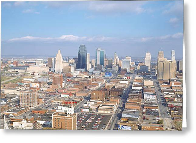 Jackson County Greeting Cards - Buildings In A City, Hyatt Regency Greeting Card by Panoramic Images