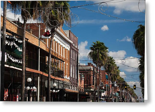 Ybor City Greeting Cards - Buildings In A City, La Septima, East Greeting Card by Panoramic Images
