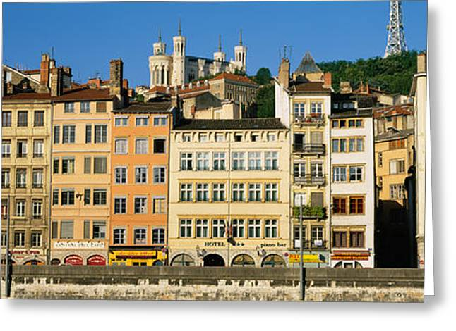 Lyon Greeting Cards - Buildings In A City, Lyon, France Greeting Card by Panoramic Images