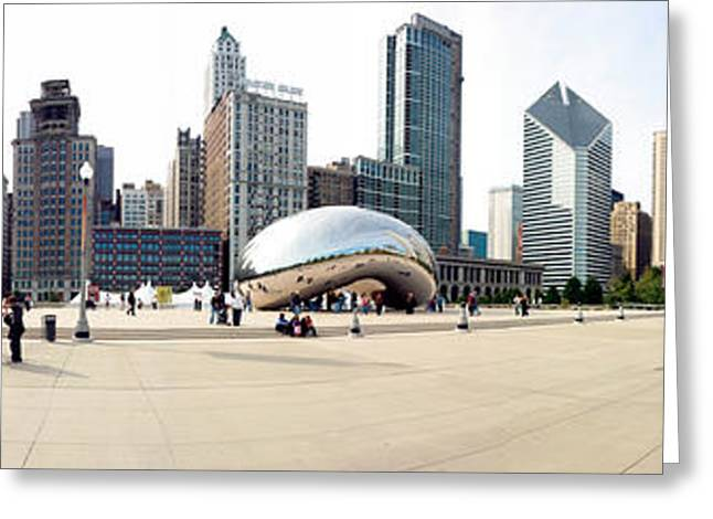 Buildings In A City, Millennium Park Greeting Card by Panoramic Images