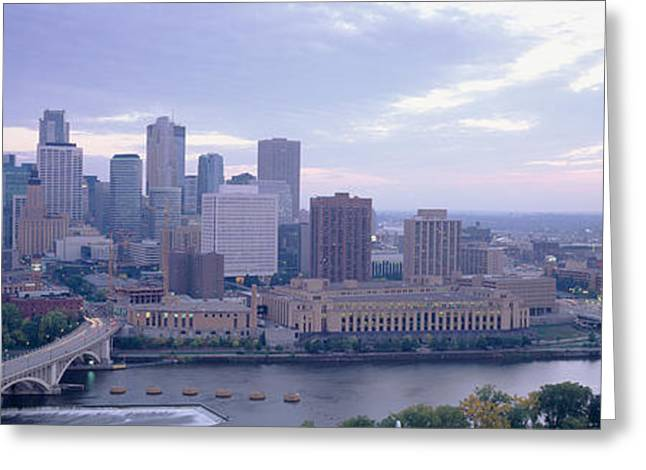 Twin Cities Greeting Cards - Buildings In A City, Minneapolis Greeting Card by Panoramic Images