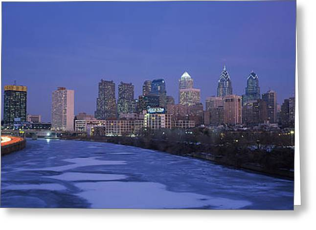 Schuylkill River Greeting Cards - Buildings In A City, Philadelphia Greeting Card by Panoramic Images