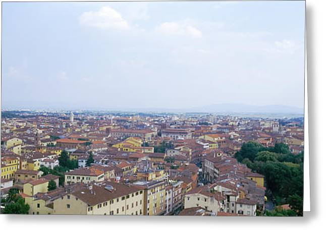 Residential Structure Greeting Cards - Buildings In A City, Pisa, Tuscany Greeting Card by Panoramic Images