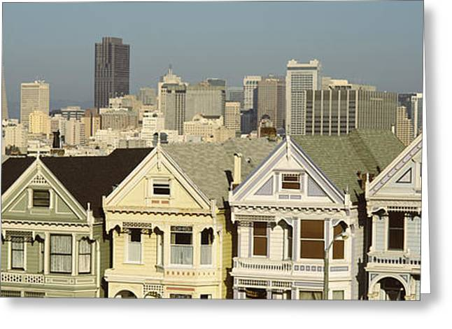 Height Greeting Cards - Buildings In A City, San Francisco, San Greeting Card by Panoramic Images