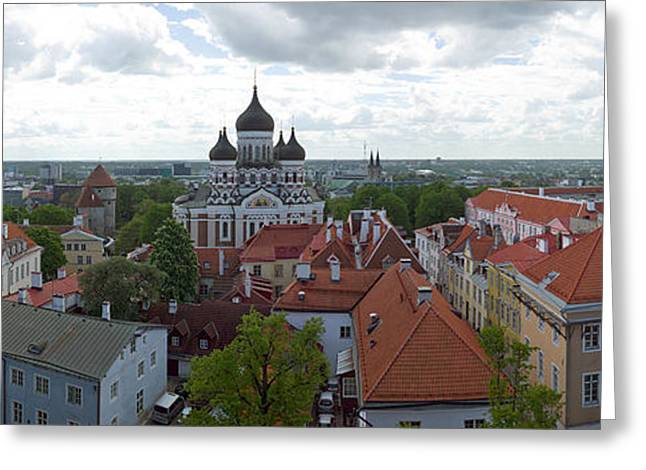 Buildings In A City, St. Nicholas Greeting Card by Panoramic Images