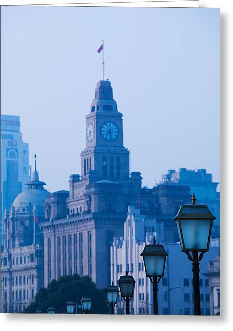 Bund Shanghai Greeting Cards - Buildings In A City, The Bund Greeting Card by Panoramic Images