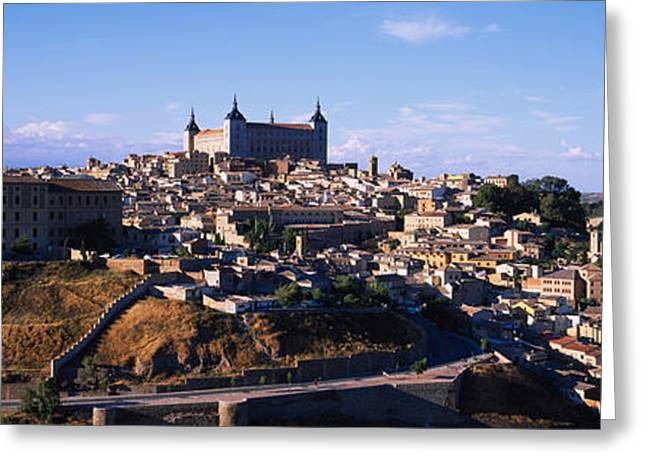 La Mancha Greeting Cards - Buildings In A City, Toledo, Toledo Greeting Card by Panoramic Images