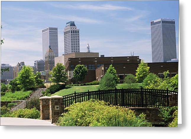Tulsa Oklahoma. Architecture Greeting Cards - Buildings In A City, Tulsa, Oklahoma Greeting Card by Panoramic Images
