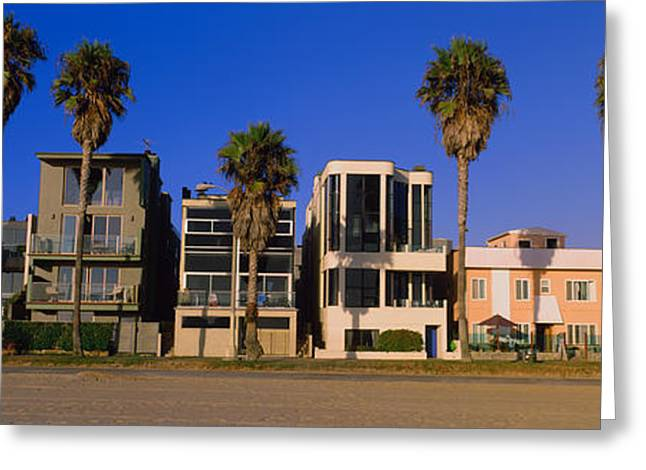 Venice Beach Palms Greeting Cards - Buildings In A City, Venice Beach, City Greeting Card by Panoramic Images
