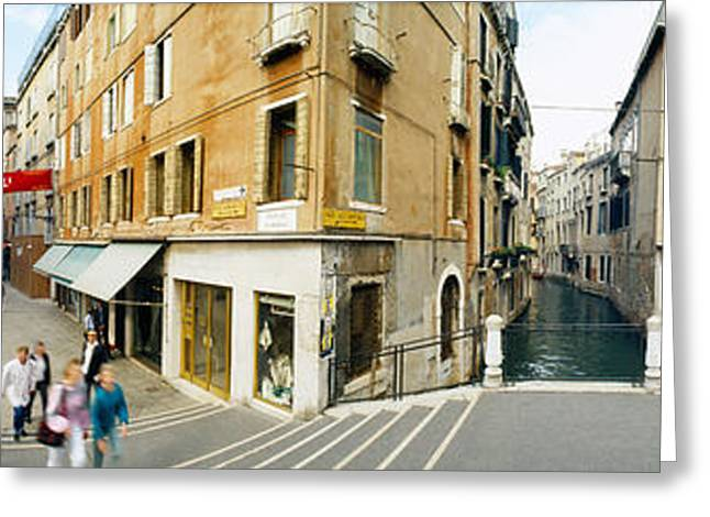 Photography Of Women Greeting Cards - Buildings In A City, Venice, Veneto Greeting Card by Panoramic Images