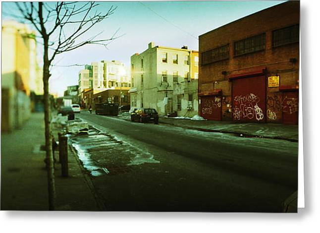 Williamsburg Greeting Cards - Buildings In A City, Williamsburg Greeting Card by Panoramic Images