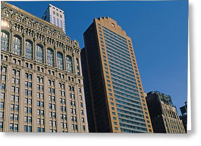 World Trade Centre Greeting Cards - Buildings In A Downtown District, New Greeting Card by Panoramic Images
