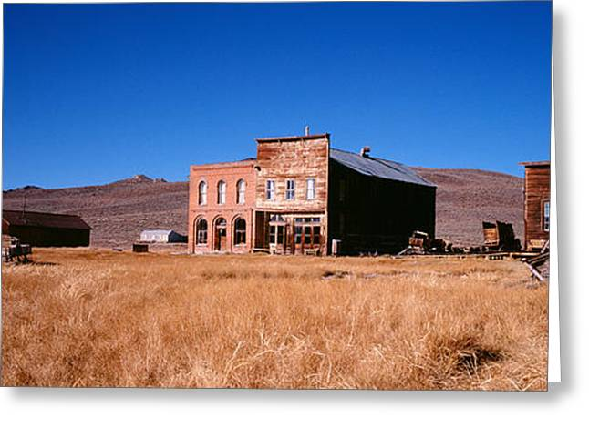 Historic Buildings Greeting Cards - Buildings In A Ghost Town, Bodie Ghost Greeting Card by Panoramic Images