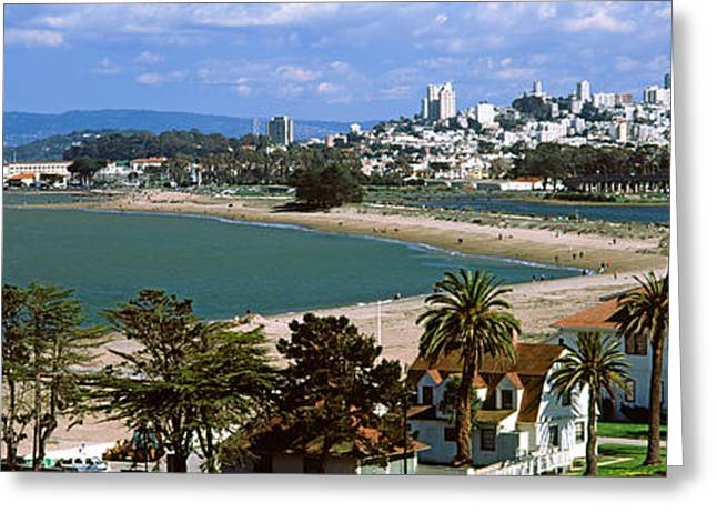 San Francisco Images Greeting Cards - Buildings In A Park, Crissy Field, San Greeting Card by Panoramic Images