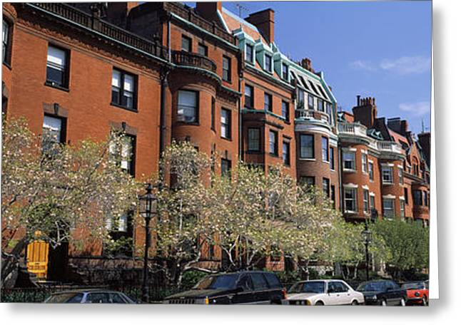 Residential Structure Greeting Cards - Buildings In A Street, Commonwealth Greeting Card by Panoramic Images