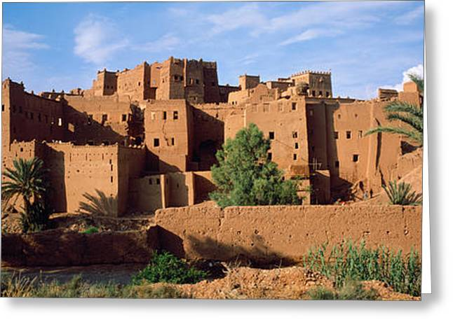 Buildings In A Village, Ait Benhaddou Greeting Card by Panoramic Images