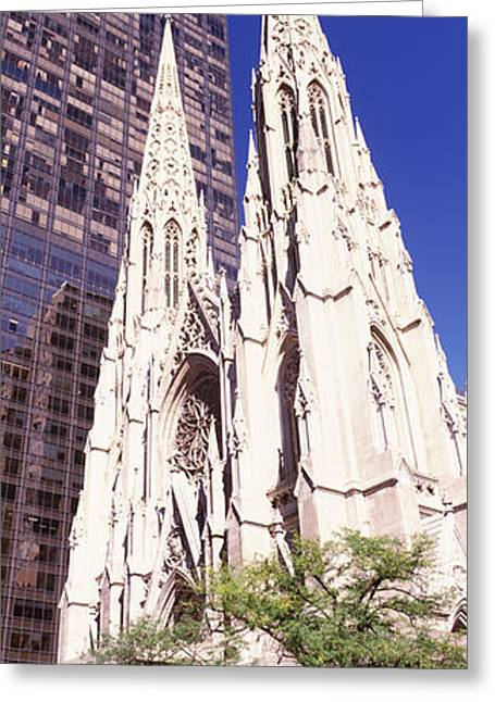 St. Patrick Greeting Cards - Buildings In The City, St. Patricks Greeting Card by Panoramic Images