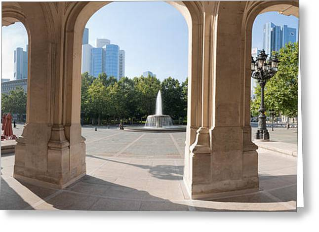 Arts Culture And Entertainment Greeting Cards - Buildings In The Financial District Greeting Card by Panoramic Images